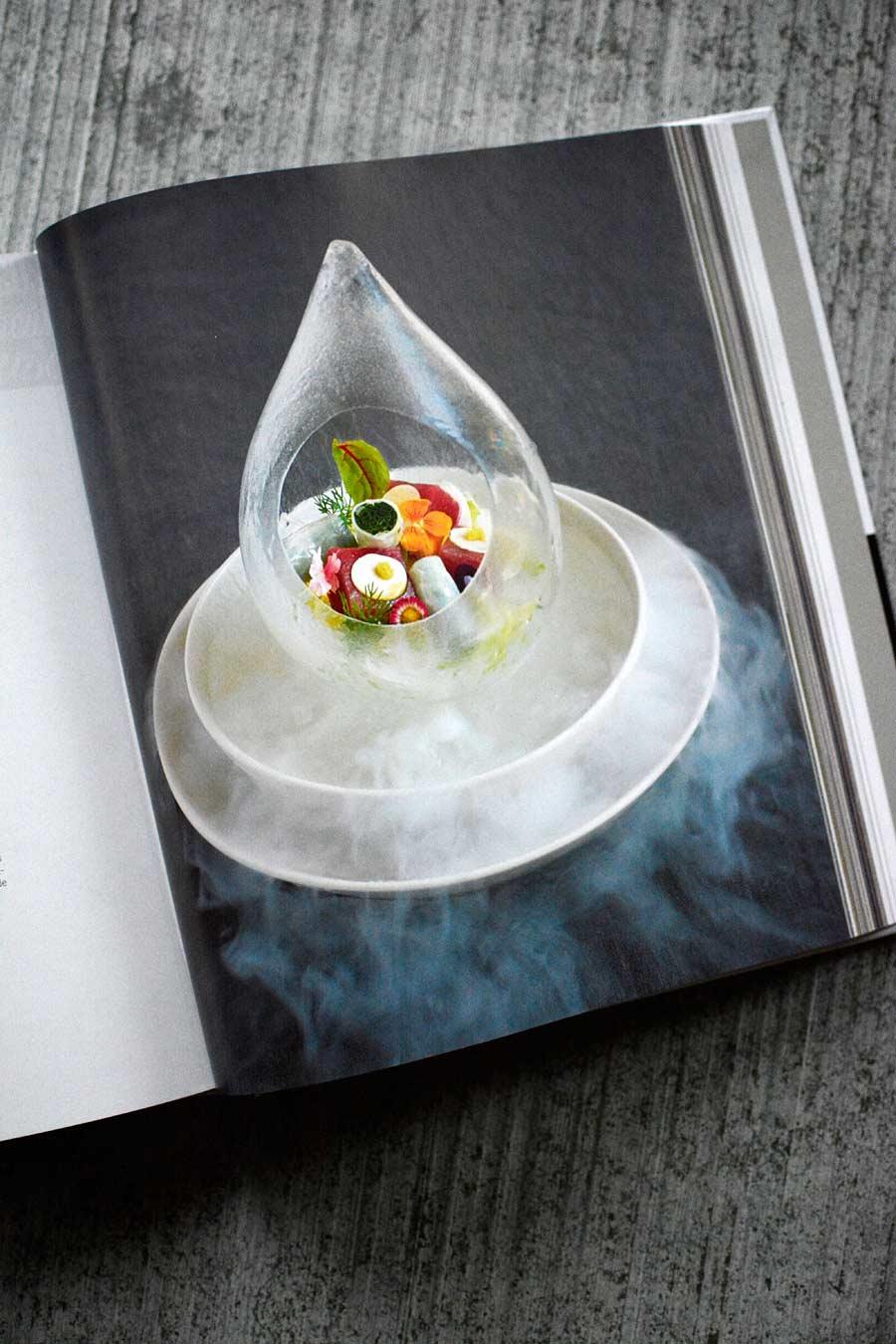 photos de recettes, forme de goutte, meli-melo de légumes de saison; carbo-glace