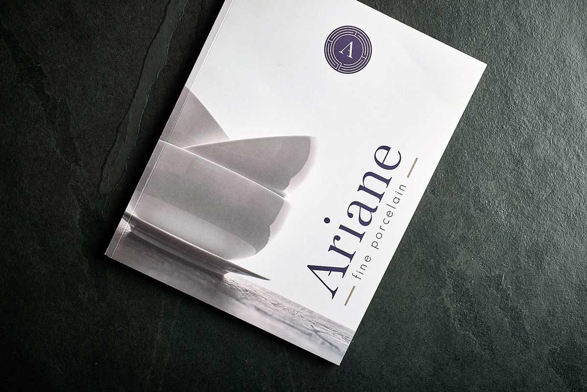 catalogue imprimé vaisselle ariane