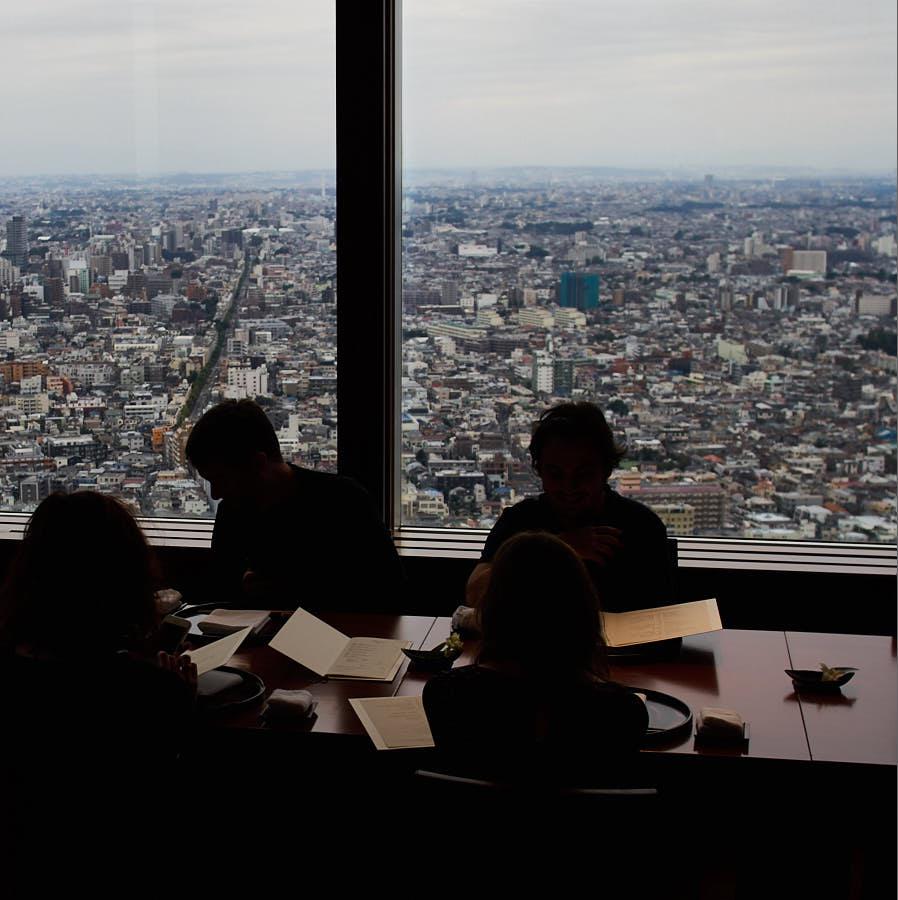 vue panoramique depuis la salle du Kozue