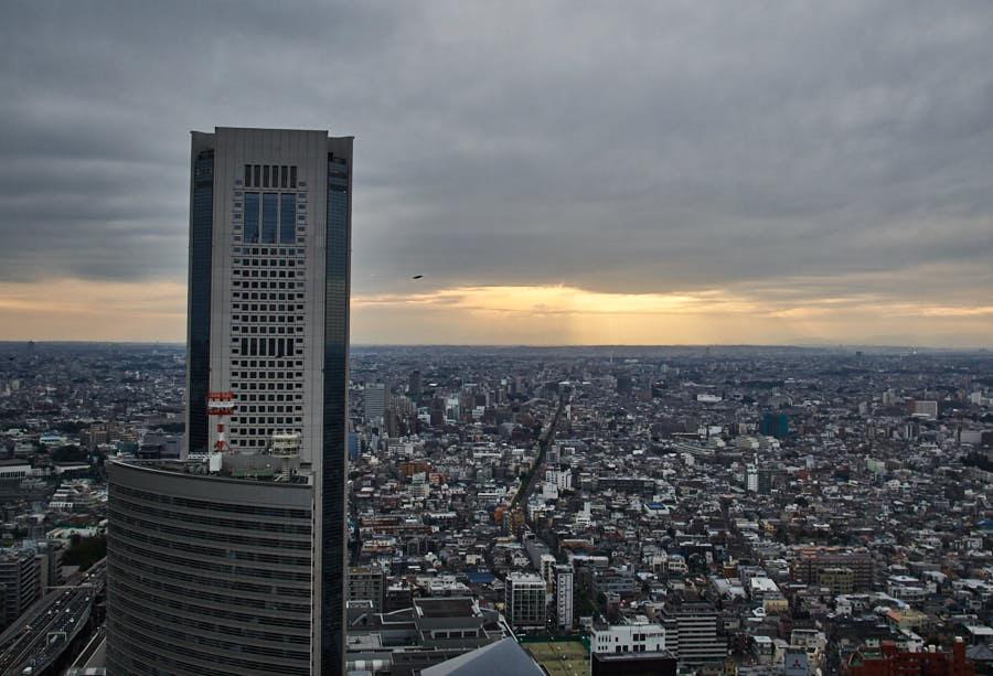 Soleil levant sur Tokyo_Mont Fuji