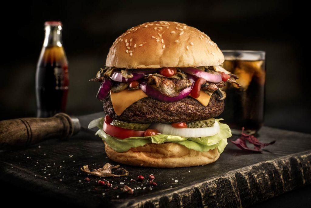 CHERRYSTONE-Photographie de burger , hamburger