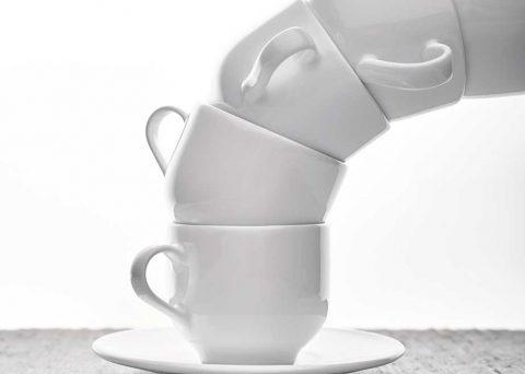 Tasses et sous-tasse